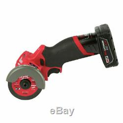 Milwaukee 2522 M12 FUEL 3 Cut Off Tool Grinder Kit With Battery and Charger