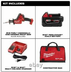 Milwaukee 2719-21 M18 Fuel Hackzall Reciprocating Saw with 5.0 ah Battery Kit New