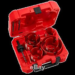 Milwaukee 49-56-9290 10-Pc Big Hawg Kit Wood Drill Bit FREE SHIP HVAC Plumbing