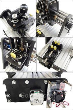 Mini 3 Axis Desktop CNC Router Kit Wood PCB Milling Carving Engraving Machine