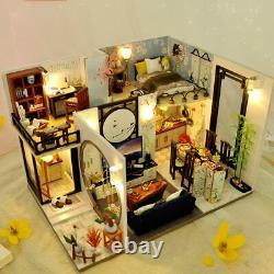 Miniature Dollhouse DIY Kit Doll House with Furniture Toy Home Set For Girl Kids
