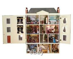 Montgomery Hall Dolls House & Basement Unpainted Flat Pack Kit 112 Scale