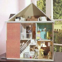 Mountfield 1930's Detached Dolls House Unpainted Flat Pack Kit 112 Scale