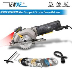 NEWONE 600W 3500RPM Mini Compact Circular Saw with Laser Guide Powerful Cutter