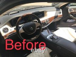 NEW 18 pieces full kit Mercedes AMG S Class W222 Brown 100% NATURAL wood set