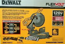 NEW Dewalt DHS716AT2 Flexvolt 120 Volt MAX 12 Dual Bevel Compound Miter Saw Kit