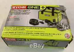 NEW RYOBI P166 18V ONE+ LITHIUM HP 3.0 Ah Battery 2 Pack Starter Kit + Charger