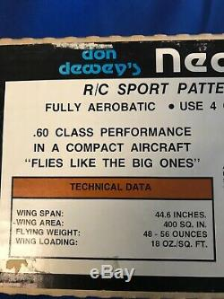 NIB Vintage Airtronics New Era III R/C Sport Pattern Airplane Deluxe Kit