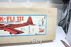 NOS NIP Rare Vintage Top Flite KWIK-FLI III RC Balsa Model Airplane Kit 60 Box
