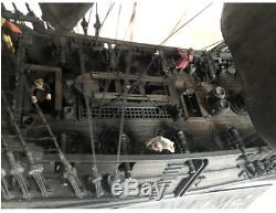 New 2019 black pearl Pirates ship wooden model kit 80cm wood ships kits boat