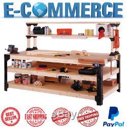 New 2x4 Basics Workbench Kit Garage Storage Table Tools Shelf DIY Workshop Bench