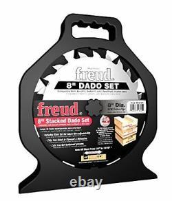 New Freud Sd208s Pro Dado Titanium Carbide 8 Saw Blade Kit 8 Set New In Case