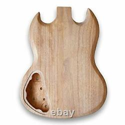 New Guitar DIY kit Unfinished Body For SG Guitar Okoume Wood Body