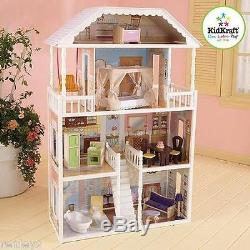 New Kidkraft Savannah Dollhouse 4 Levels Girls Barbie Furniture Doll Play House
