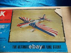 New, Old Stock Super Chipmunk Balsa Wood C/L Control Line Airplane Kit SIGCL19