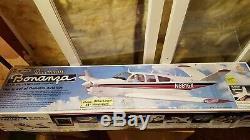 New Top Flite Beechcraft Bonanza RC Remote Control Balsa Wood Model Airplane Kit