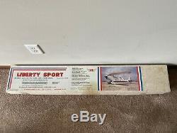 New Vintage Rare SIG Liberty Sport RC Nitro Balsa Wood Biplane Airplane Kit