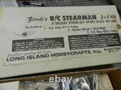 Nick Ziroli R/C Stearman Balsa airplane kit Vintage / Rare