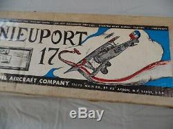 Nieuport 17 Model Airplane Kit new in origional carton by VK model kit CO N/R