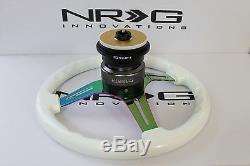 Nrg Short Hub Quick Release Steering Wheel Combo Neo Luminor Honda 92-95 CIVIC