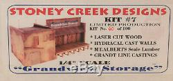 O On3 On30 CRAFTSMAN STONEY CREEK DESIGNS GRANDVIEW STORAGE KIT' NEW UNSTARTED