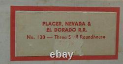On3 On30 CRAFTSMAN PLACER, NEVADA& EL DORADO 3 STALL WOOD ENGINE HOUSE KIT NEW