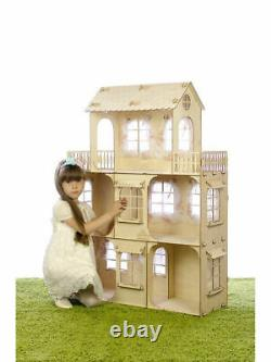 Only 3 days! Big Doll House & Furniture Set! Wooden Doll's House. 1158128cm