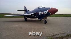 PRO RC PLANE Kit F9F-6 Jet EDF 90mm balsa Wood Kit CNC for adults 1030mm NEW