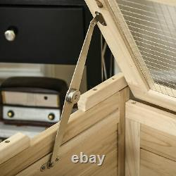 PawHut Wooden Hamster Cage Small Animal Kit Play House for Indoor