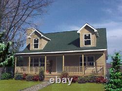 Pioneer Cape-Cod 28x36 Customizable Shell Kit Home, delivered ready to build