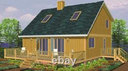 Pocono 28 x 36 Customizable Shell Kit Home, delivered ready to build