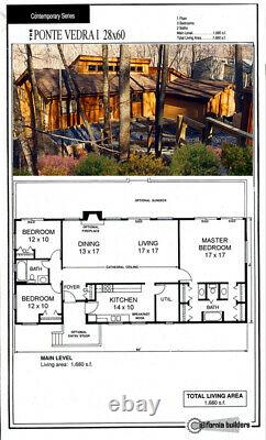 Ponte Vedra Rancher 28x60 Customizable Shell Kit Home, delivered ready to build