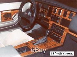 Premium Wood Dash Trim Kit 7pcs Fits Chevy Corvette 1984-1989 Auto (checor-84a)