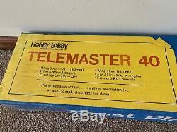 Pristine Brand New Hobby Lobby Telemaster 40 RC R/C Remote Control Airplane Kit