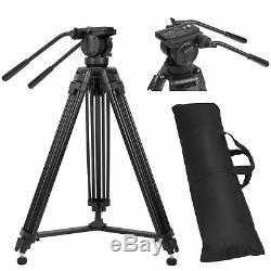 Professional Heavy Duty DV Video Tripod with Fluid Pan Head Kit 72 For Camera