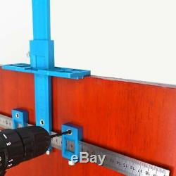 Punch Locator Drill Guide Sleeve Cabinet Hardware Jig Drawer Pull Wood Dowel Kit