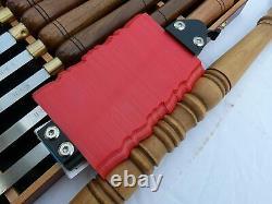 Quality Wood Turning Chisels, Brass Ferrules, Walnut Handles+Turning Acc Kit PAC11