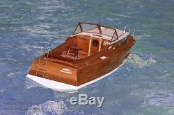 Queen 1960s Semi Scale RC Classic Sports Boat Aero-Naut Wooden Kit