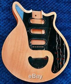 Queen Brian May Red Special Guitar Only Wood For Accurate Replica + Plastics Kit