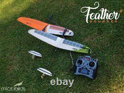 RC Glider UltraLight Radio Control Kit Plane Balsa Carbon FIber Feather² Micro