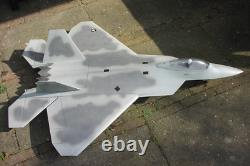 RC PLANE F-22 Raptor Jet EDF 2x70mm CNC wood kit for adults without motor NEW
