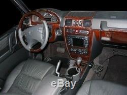 Rhd Lhd Mercedes Benz Clk 2003 -2009 New Style Dash Trim Kit Car Tuning Wood 17p