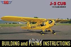 SIG Piper J3 J-3 Cub RC Remote Control Balsa Wood Airplane Kit SIGRC3