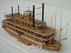 Scale 1/100 USS MISSISSIPPI 1870 540mm 21 steamboat wood model kit