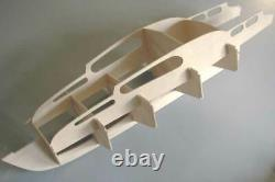 Sea Commander 34in Radio Control Cabin Cruiser Wood Kit with Fittings Set