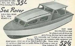 Sea Rover Boat Model Wooden boat kit Lesro models Les Rowell