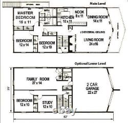 Sequoia 28 x 62 Customizable Shell Kit Home, delivered ready to build