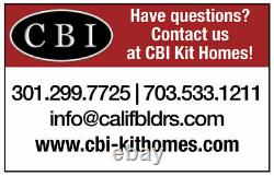 Sheffield CA Bungalo 28x54 Customizable Shell Kit Home, delivered ready to build