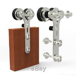 Stainless Steel Sliding Barn Wood Door Hardware Closet Track Kit Single/Double