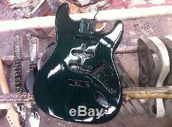 Starshine SR-MKT-007zebra wood ST body electric guitar kits S-S-S rounting